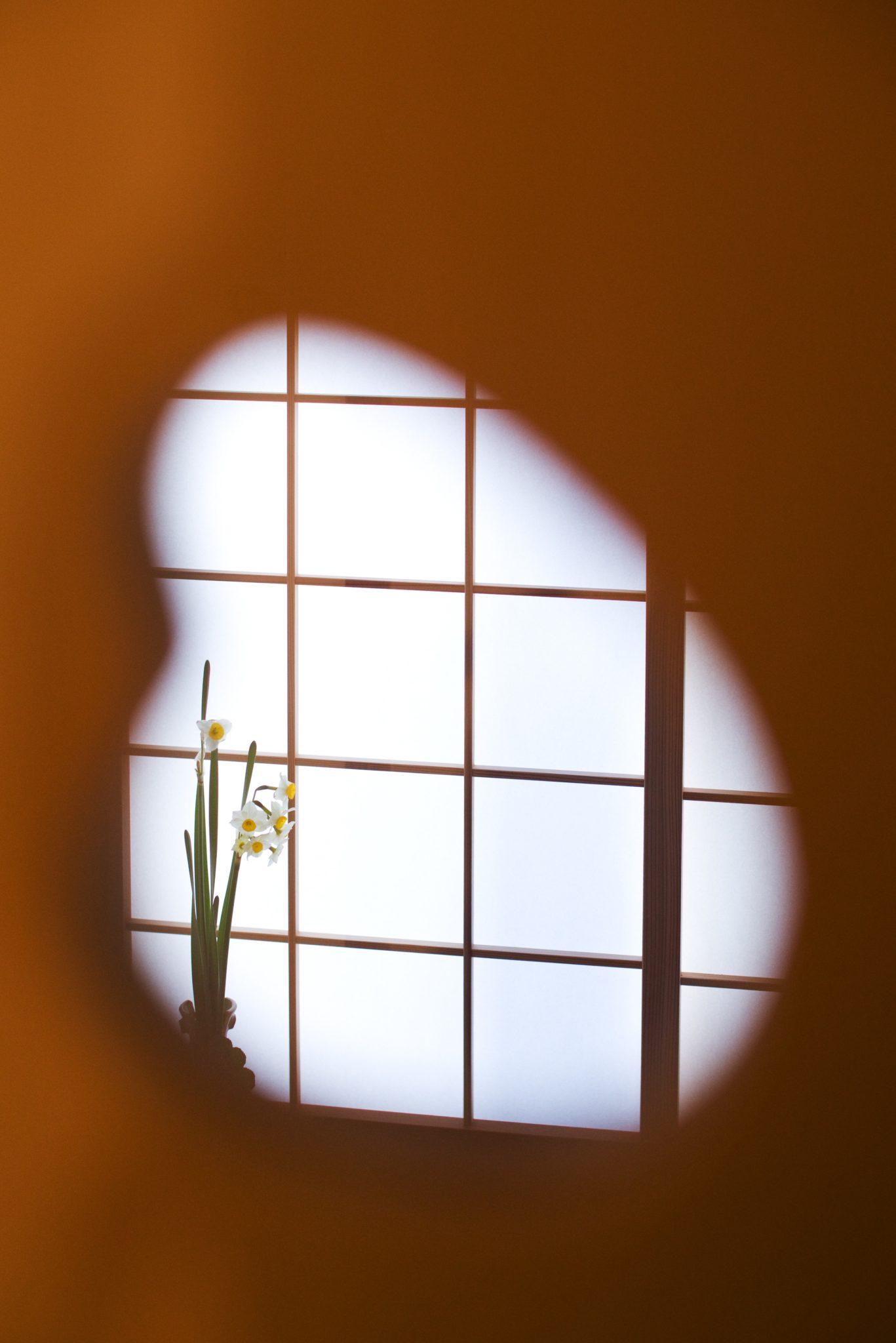 小窓から覗くトイレ