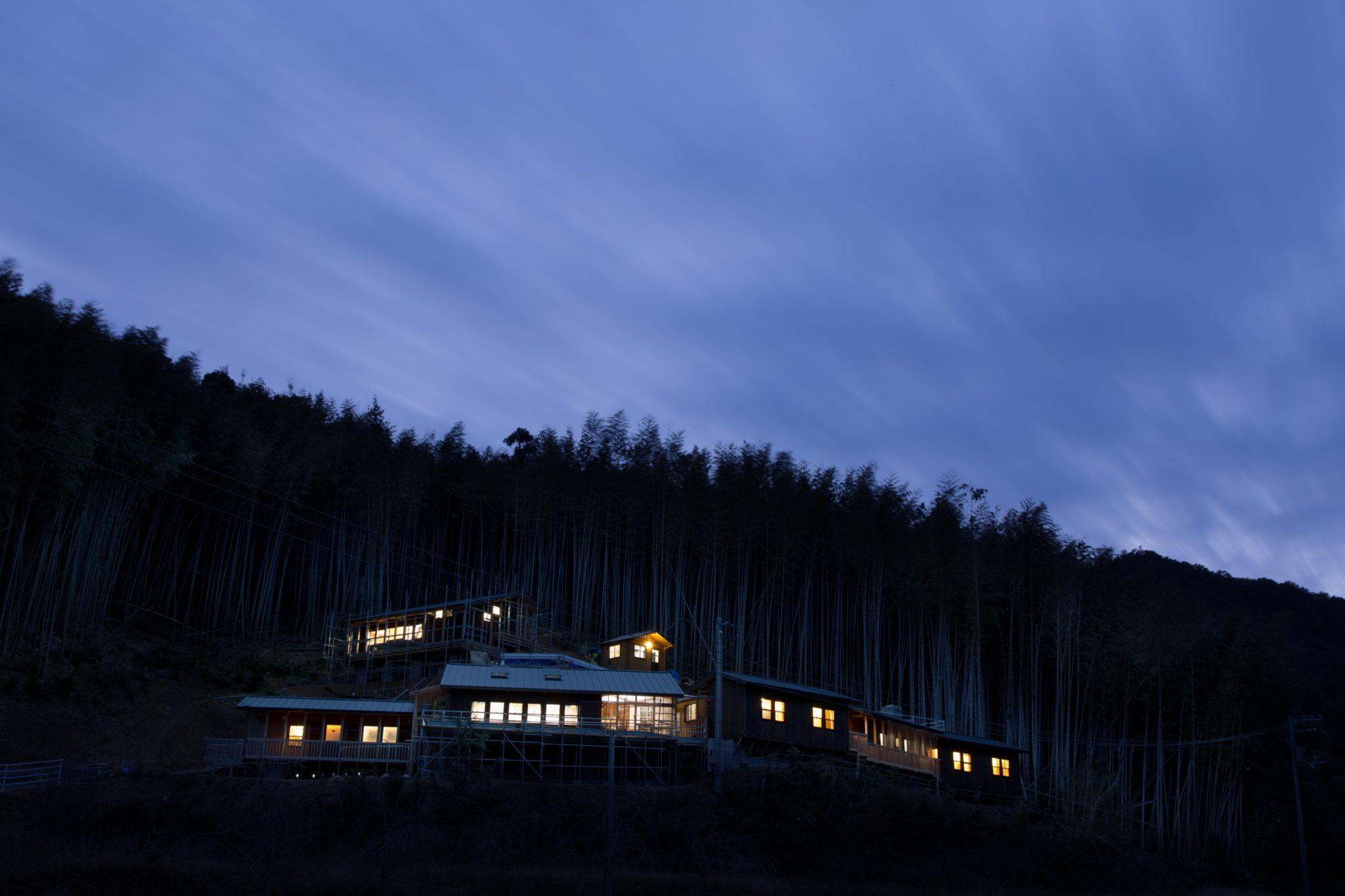 夜景 津波の来ないこの高さに新しい街「木岐ver.2」を構想しています